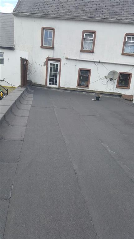 Our Standard Felt Roofing Installation Procedure Of Installation Includes  Vapour Barrier, Insulation Board, 3mm Underlay And 4mm Mineral Cap Sheets.